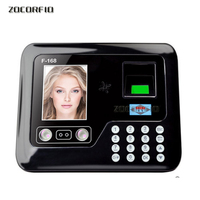 Free Shipping 2.8 TFT LCD Touch Screen Biometric Attendance Face Recognition Time Attendance Time Clock+fingerprint+passowrd