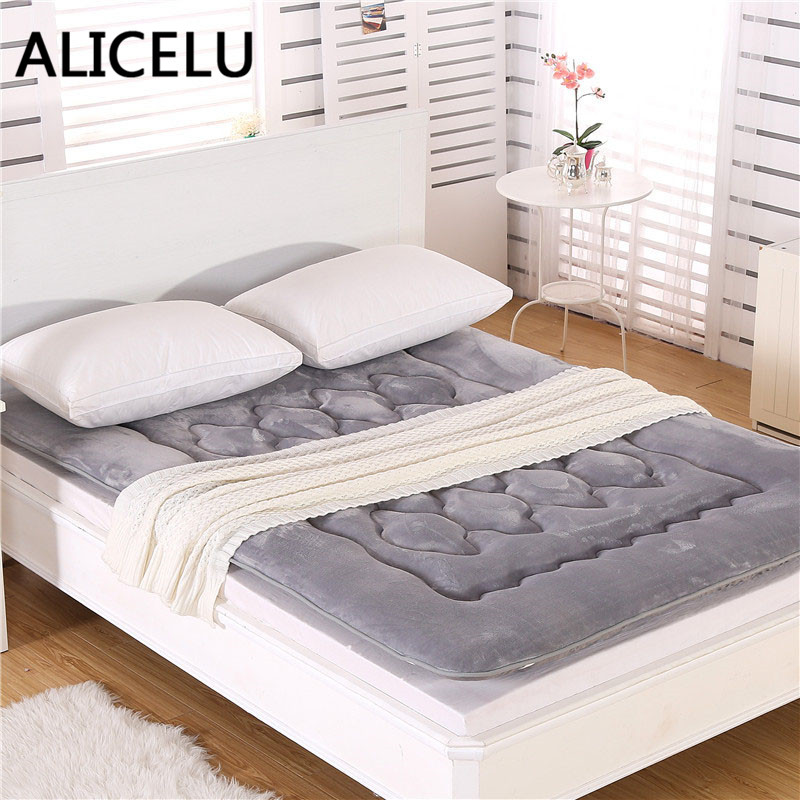 ALICELU Bed Mattress Pad Sheets Double/Single Bed Cushion ...