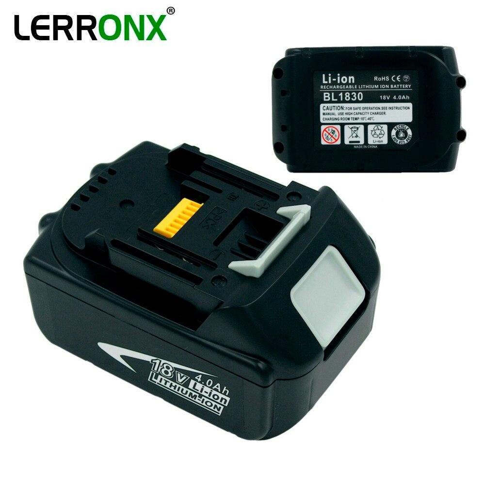 Nouveaux outils électriques batterie rechargeable Lithium 18 V 4.0Ah pour Makita perceuses sans fil BL1815 BL1830 BL1840 LXT400 BDF454 BFR750