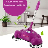 Adjustable Automatic Hand Push Sweeper Brooms Push Type Sweeping Machine Household Cleaning Tool For Home Kitchen