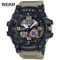 Read largedigital marca marca top sports mostrador redondo 51mm escala fivela montre relogio eletrônico relógios de pulso para homens silicone