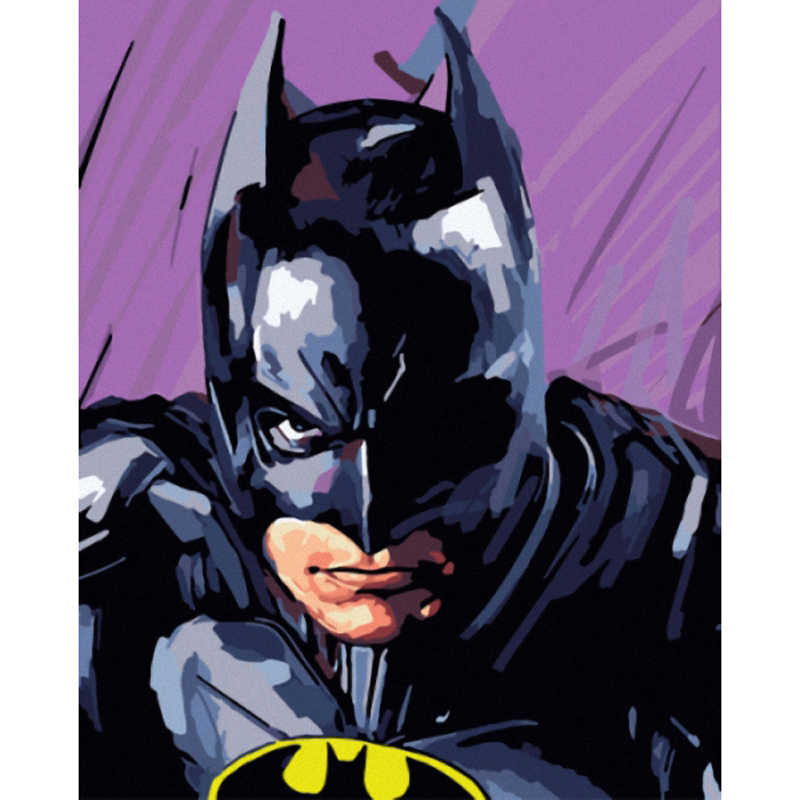 DIY Oil Digital Painting By Numbers On Canvas Hand Painted Movie Wall Superhero Batman Art Picture Living Room Home Decor