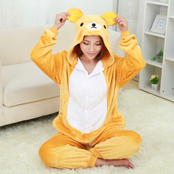 New bear pajamas for women nightgown pajama adult pajama one piece polyester pajamas pyjamas.jpg 250x250