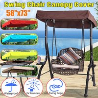 SGODDE 148x185cm Colorful Replacement Outdoor Indoor Courtyard Top Cover Swing Chair Canopy For Garden Swing Hammock
