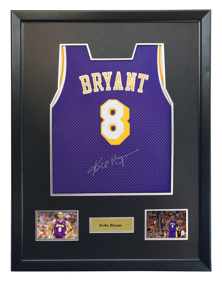 490e53e4473b Kobe Bryant signed autographed purple basketball shirt jersey come with Sa  coa framed Lakers