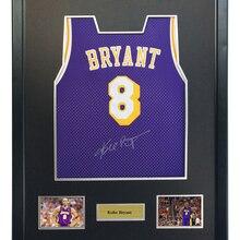 Camisa de basquete Kobe Bryant assinado autografado roxo camisa vem com Sa  coa emoldurado Lakers 43ad770f5946a