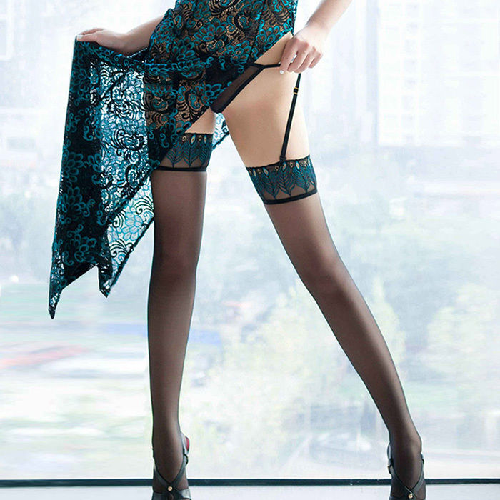 Original Sexy Womens Lady Stockings Lace Top Stay Up Thigh High Stockings Nightclubs Pantyhose