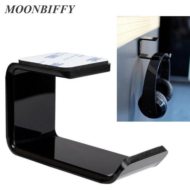 Прочный держатель для наушников и гарнитуры MOONBIFFY, Настенная/настольная подставка для наушников, кронштейн для наушников