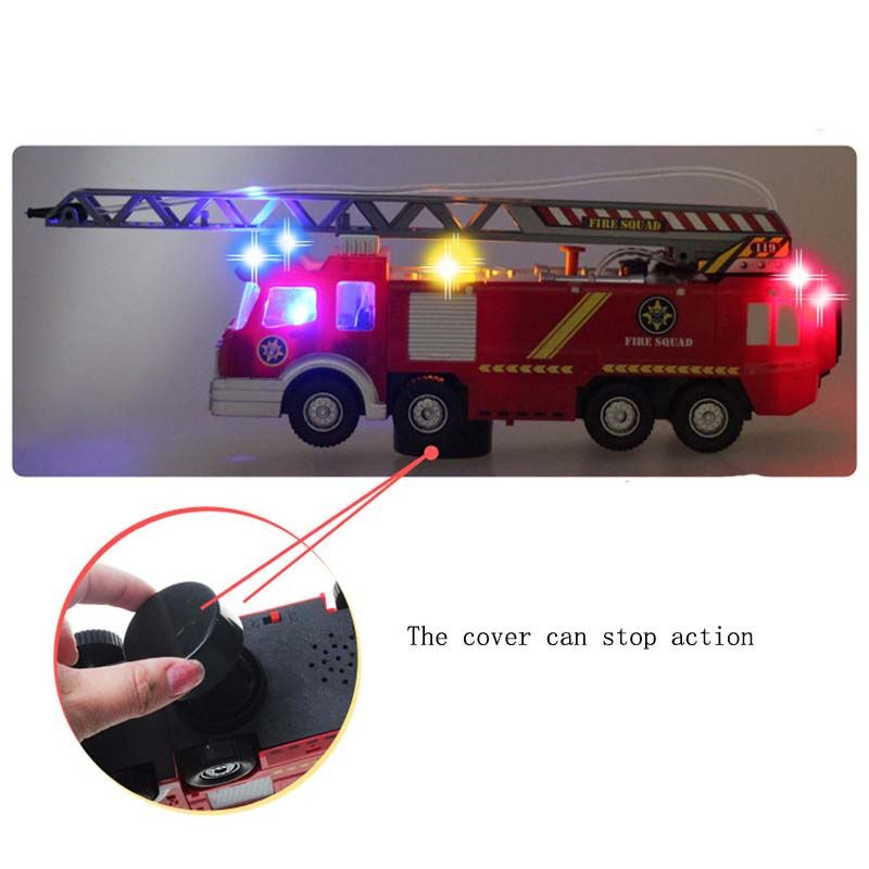 US $21 98 15% OFF|Toy Car Water Spray Universal Electric Fire Water Fire  Truck with Light and Sound Effect for Children Party Favors-in Diecasts &  Toy
