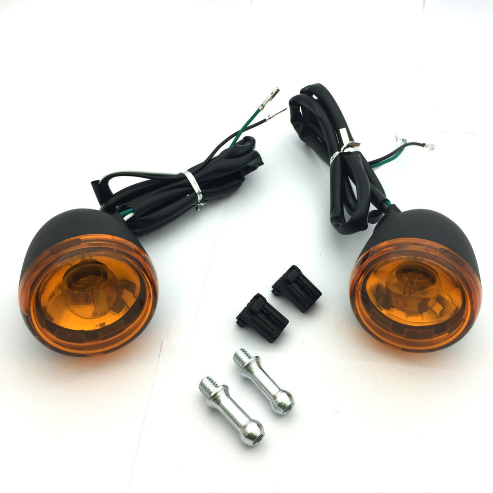 Black Front Turn Signal Light For Harley Davidson XL883 XL1200 Sportster 92-up купить