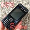 Оригинал NOKIA N70 Mobile Сотовый Телефон Восстановленное Английский Русская Клавиатура Телефона