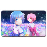 Ram Rem Re Zero Playmat 525 Custom Anime Board Games Sexy Play Mat Card Games
