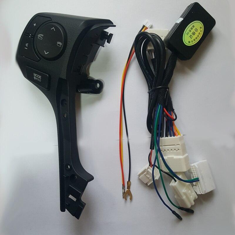 Рулевое колесо громкости музыки кнопки управления коммутатором с Телефон Звук голубой подсветкой для Toyota Corolla 2015 2016 2017