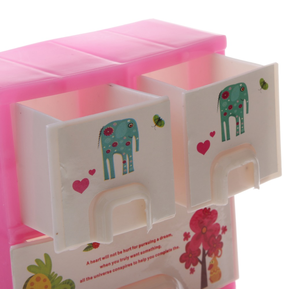 pink dolls house furniture. New Mini Pink Dollhouse Drawer Wardrobe Bedroom Furniture For Barbie Dolls Accessory Doll House Decor Kids Toy Baby Gift-in Toys From