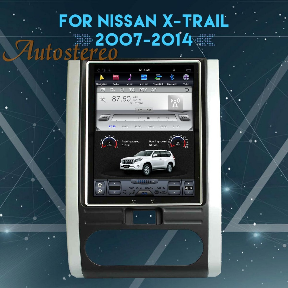 Autostereo date Android 7 Souper Tesla Voiture Sans Lecteur DVD GPS Navigation Pour NISSAN X-TRAIL Qashqai 2007-2014 multimédia bande