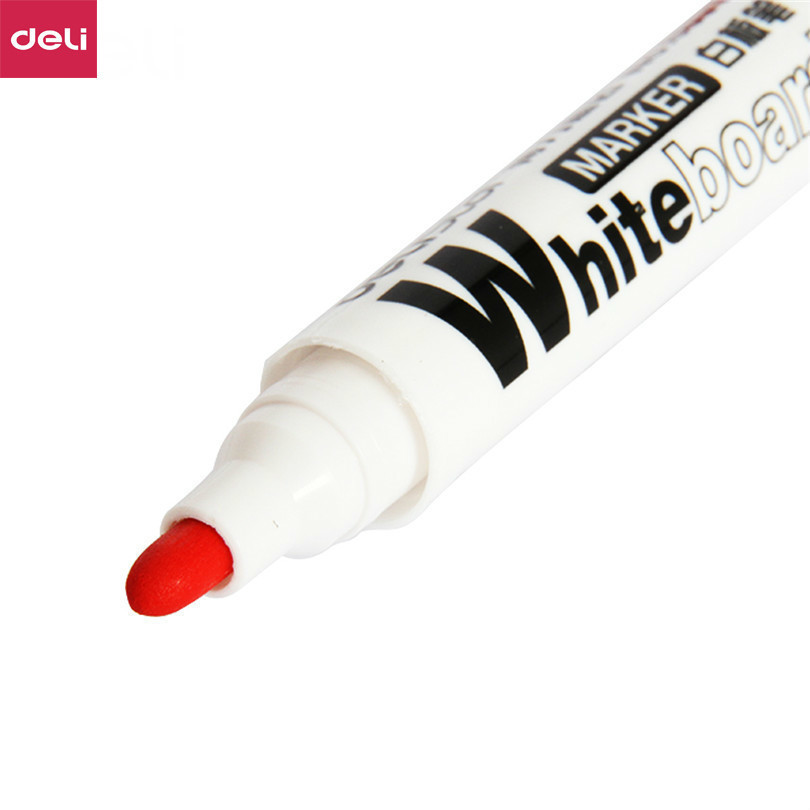 Deli Markers Stationery Office & School Supplies Marker Coarse Round Toe Blue Red Whiteboard Pens Dry Drawing Ink Pen