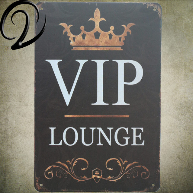 VIP Lounge Metal Sign Vintage Home Decor 4040 Cm Shabby Chic Tin Best Home Decor Signs Shabby Chic