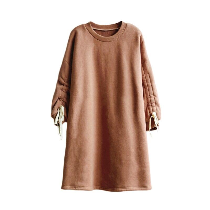 Новинка 2019 года, весеннее Повседневное платье в школьном стиле свободные длинные платья для девочек подростков возрастом от 6 до 14 лет плотная теплая зимняя одежда для больших девочек