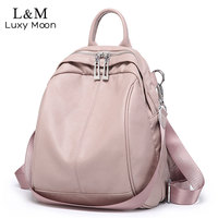 Pink Backpack Women 2019 Fashion Small Bagpack PU Leather Travel Backpack School Bags For Teenage Girls Back Bag mochila XA400H