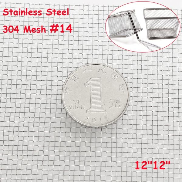 30x30cm Woven Wire 14 Mesh 304 Stainless Steel Filtration Grill High Quality <font><b>Screening</b></font> Filter Sheet Filter image