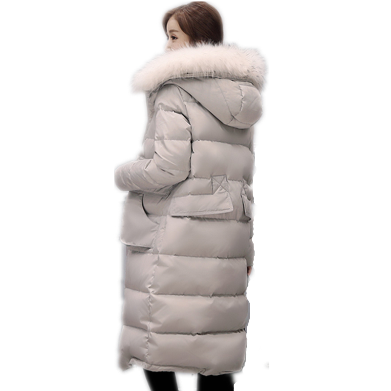 Épais Long D'hiver Tussilage black pink Manteau Coréenne De Et Mode Filles Grand Veste Fourrure Col Blanc Beige Nouveau Lcy02 Canard 2019 Marée blue Duvet Mince z6BqaTzF