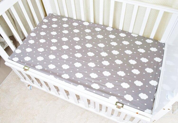 120*65 см детский матрас облака Фламинго Хлопок Дышащие простыни детские постельные принадлежности Детская кровать Чехол Новорожденный Фотография реквизит
