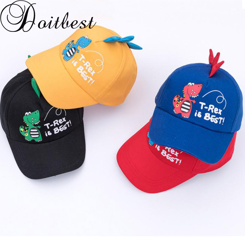 0f1a685b921 Detail Feedback Questions about Doitbest 2 8 Years old Spring Children  Baseball Cap Boys Girls Dinosaur style Snapback adjustable Kids Hip Hop Hat  Sun cap ...