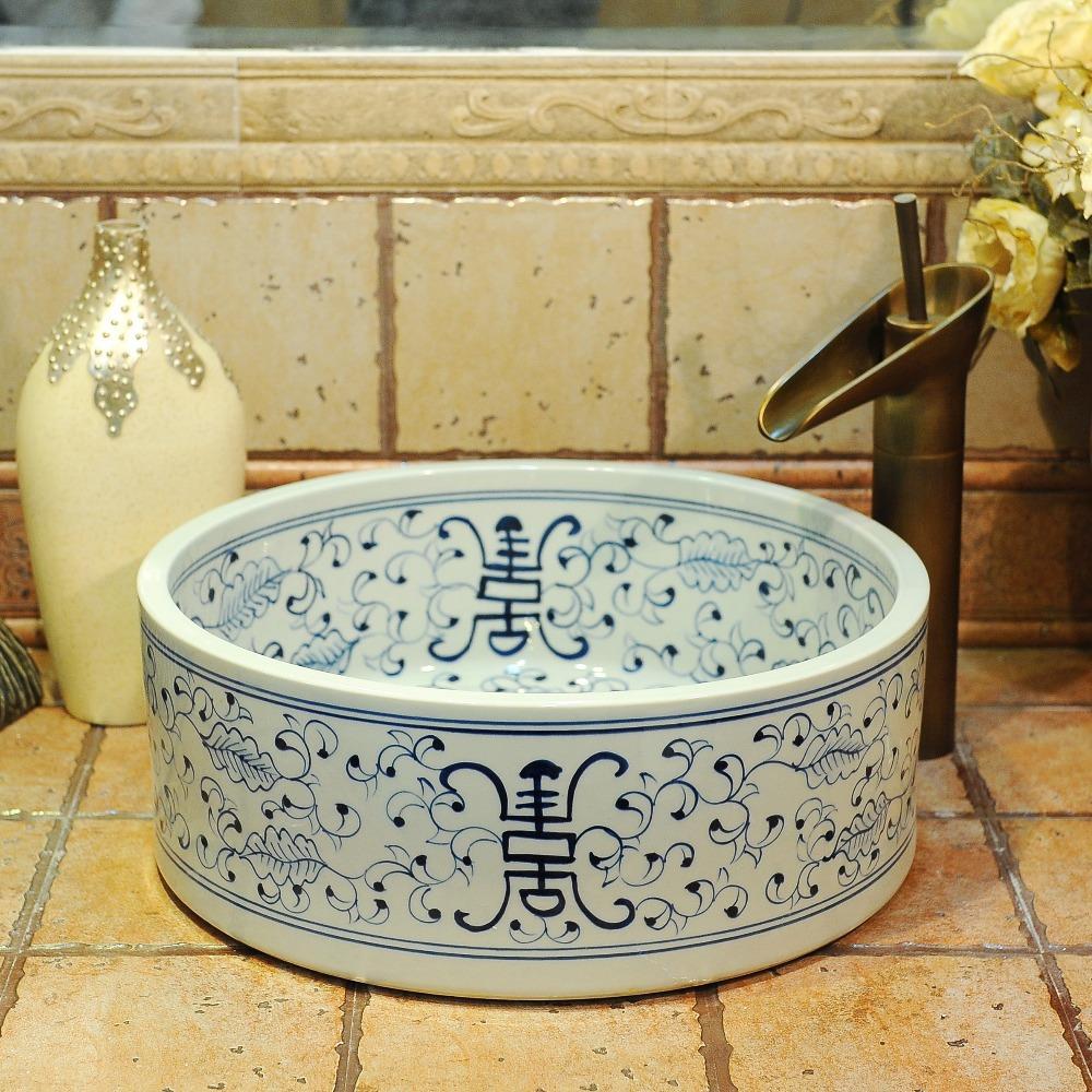 antiguos chinos de cermica fregaderos lavabo de porcelana de cermica sobre encimera lavabo lavabos cuenca lavabo
