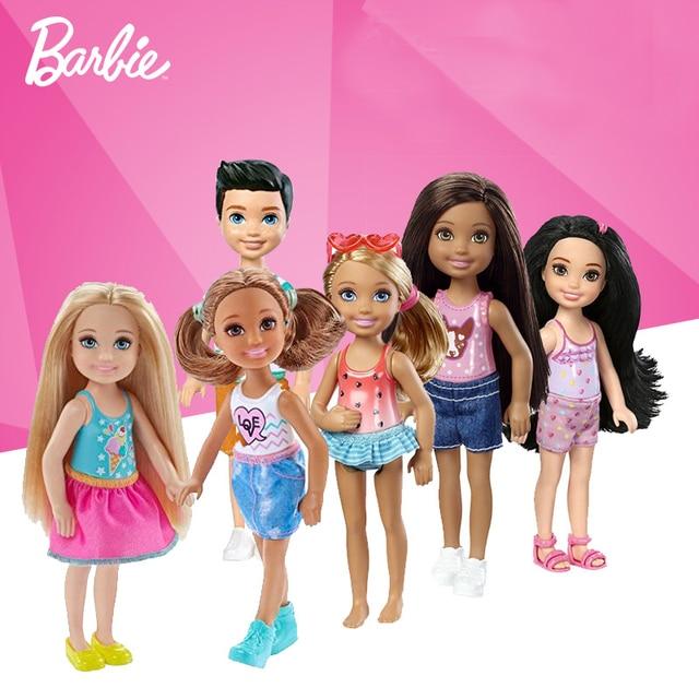 acheter 1 pcs d 39 origine mini barbie club chelsea poup e assez mignon barbie. Black Bedroom Furniture Sets. Home Design Ideas