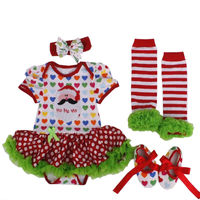 Christmas Baby Clothes Newborn Infant Baby Girls Clothing Xmas Santa Dress Reindeer Romper Skirt Jumpsuit Bebe Costumes Outfits