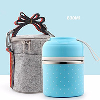 Portable Cute Mini Japanese Bento Box Leak Proof Stainless Steel Thermal Lunch Boxs Kids Picnic Food