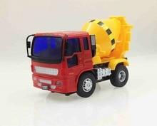 Veículos HOGNSIGN Inercial Carro de Série Pequena Mistura de Cimento Caminhão Modelo de Brinquedo De Plástico Crianças Interessante Engraçado Brinquedos Educativos