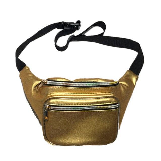 Pacote de cintura bolsa de material Fosco 2019 NOVO saco da cintura bloco de fanny bolsa translúcido peito reflexivo Do Laser mulheres cinto saco da cintura perna saco