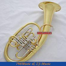 Профессиональный золотой Вагнер туба Рог BB/F Мельхиор настройки трубы с случае