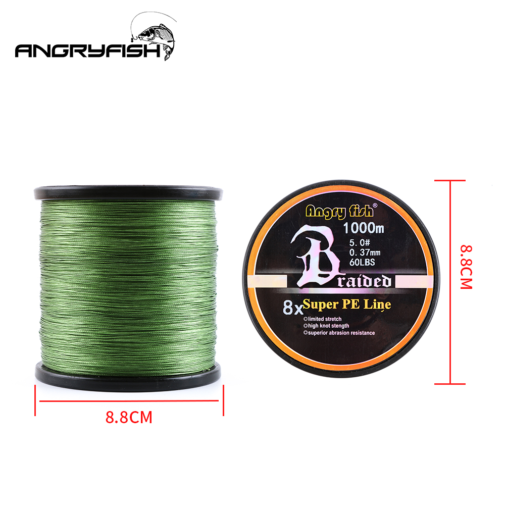 Image 2 - Angryfish Wholesale 1000Meters 8x Braided Fishing Line 8 Colors Super PE Line-in Fishing Lines from Sports & Entertainment
