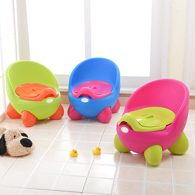 Portable Baby Potty Cartoon Pot Toilet Plastic Training Boy Girls Toilet Children Potty Seat BM88