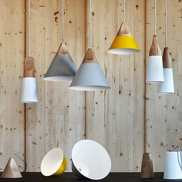 Moderne Pendelleuchten Natrliche Holz Lampe Leuchte Stil Fr Cafe Bar Wohnzimmer E26 E27 110 V