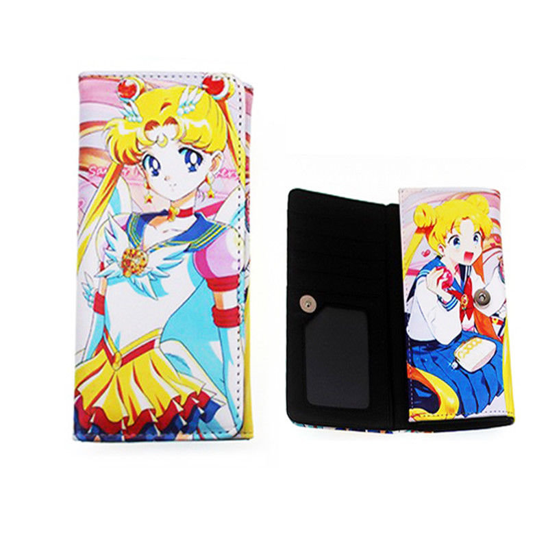 Anime Sailor Moon Tsukino Usagi Long Wallet Card Photo Holder Purse Clutch Gift Collection