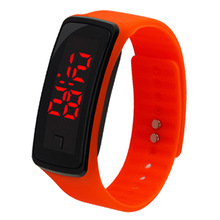 Fashion Men Women Casual Sports Bracelet Watches LED Electronic Digital Candy Color Silicone Watch for ladies Kids montre homme