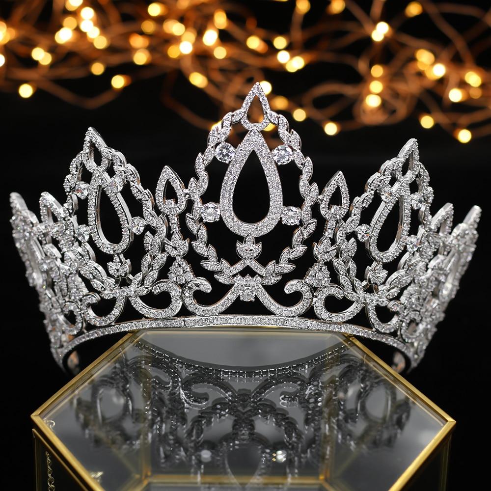럭셔리 퀸 크라운 웨딩 모자를 쓰고 있죠 신부 액세서리 헤어 쥬얼리 액세서리 신부 모자를 쓰고 있죠-에서헤어 주얼리부터 쥬얼리 및 액세서리 의  그룹 1