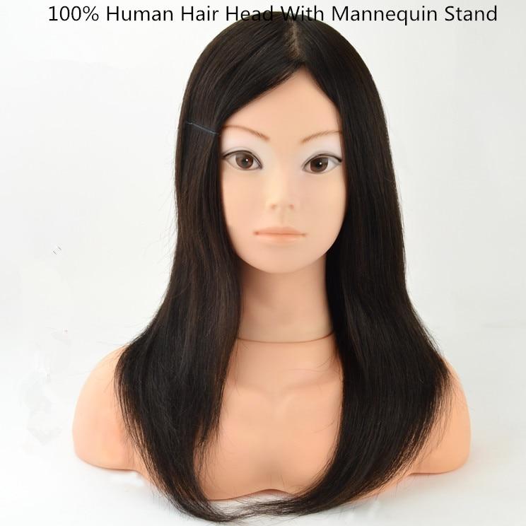 Aliexpress Com Buy 100 Human Hair Dummy Head With