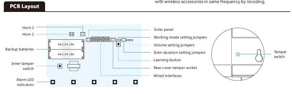 Solar siren PCB layout
