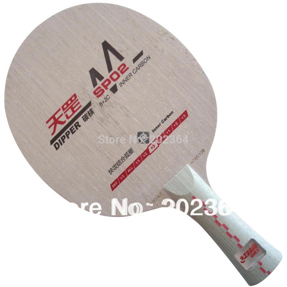 DHS Dipper SP02 (SP 02, SP-02) Inner-Carbon All+++ Table Tennis Blade (FL) for PingPong Racket dhs dipper sp02 sp 02 sp 02 inner carbon all table tennis blade fl for pingpong racket