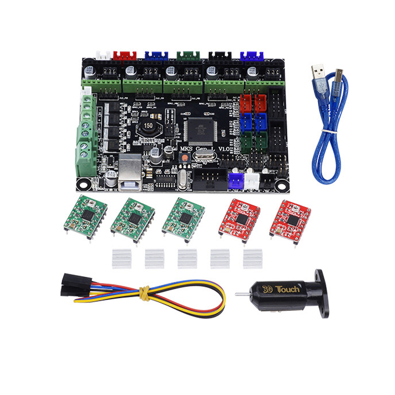 MKS GEN L Integrated Mainboard/motherbaord+5pcs A4988 driver+3D Touch model for TEVO Tarantula & Tornado 3D Printer DIY parts