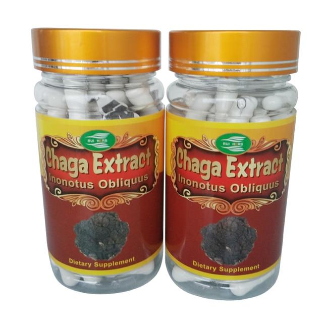 1Bottle Chaga Extract 30% Polysaccharide 500mg x 90Capsule free shipping