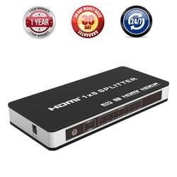 8 Port HDMI Splitter 1X8 1 Input 8 Output 4K@60Hz 3D HDMI 2.0 HDCP 2.2 Splitter Amplifier Switch Box For Apple TV PS3 DVD HDTV