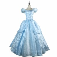 2017 Fashion Womens Ladies Cinderella Princess Costume Adult Cinderella Costume Fairy Tale Cosplay For Women Hallowmas Party