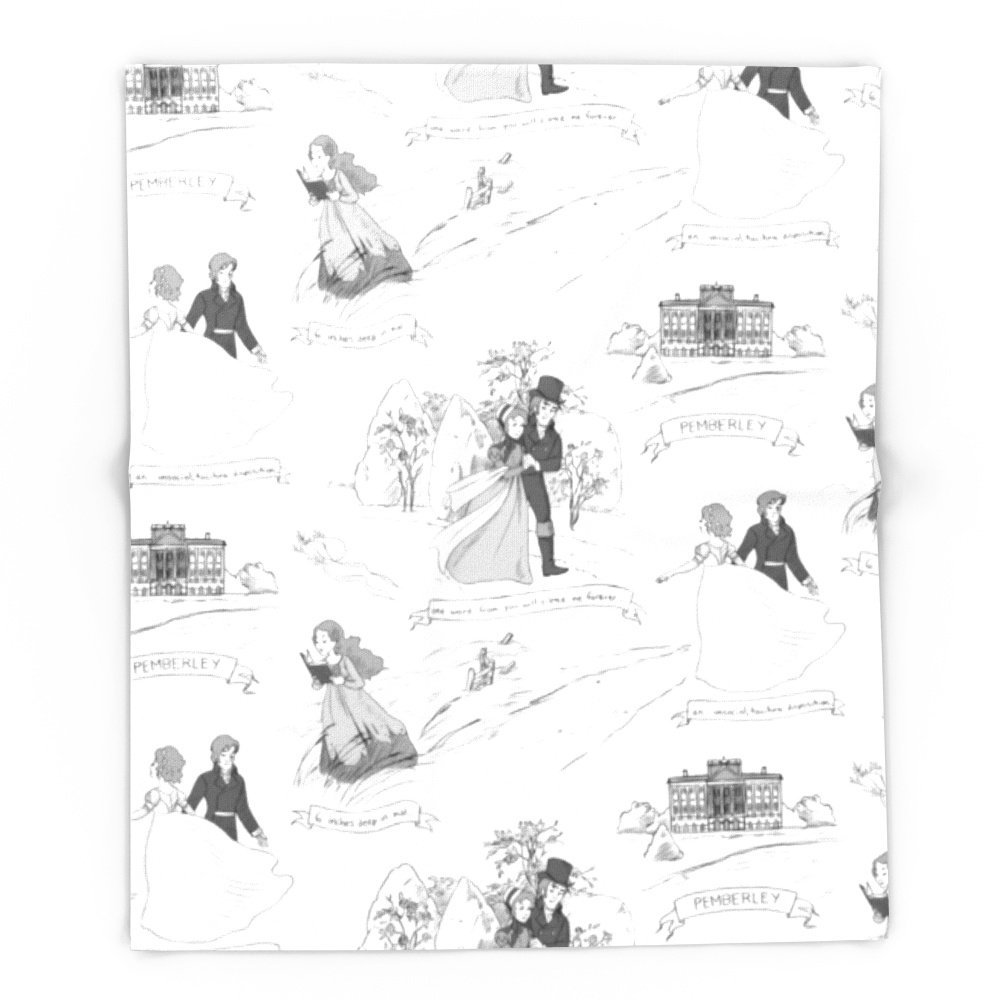 Гордость и предубеждение toile 68 x 80 Одеяло Пледы на диван-кровать плоскости пледы, покрывала Домашний Текстиль
