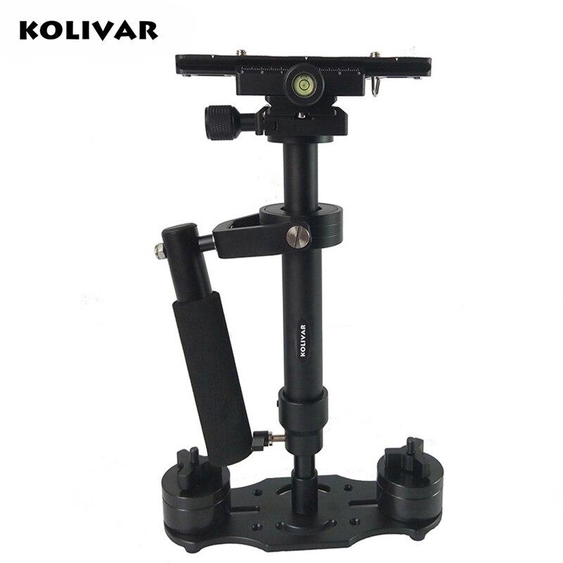 S40 Mini stabilisateur professionnel à main en aluminium Steadicam pour Canon Nikon Sony DSLR caméra vidéo DV stabilycam