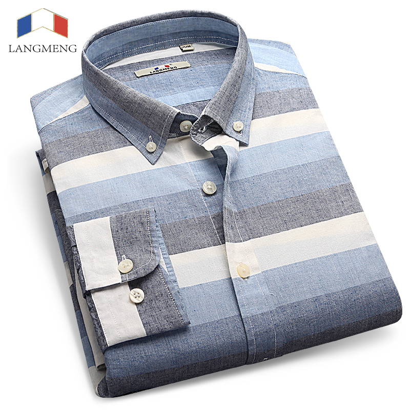 Langmeng brand hot sale new 2016 high quality mens for Mens designer casual shirts sale